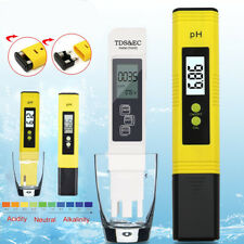 Portable LCD Digital PH Meter Tester Hydroponic Pool TDS EC Water Aquarium Test