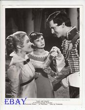 May Britt Audrey Hepburne Jeremy Brett VINTAGE Photo War And Peace
