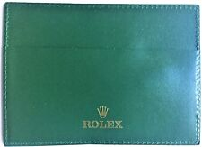 Rolex Leather Wallet Certificate Card Holder Green Authentic 4119209.34