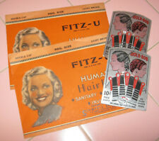 NEW 1920s Bobby Pin Bobbed Hair Wave Art Deco + Fitz-U Human Hair Nets Invisible