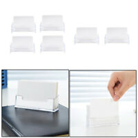6PCS Office Business Card Holders Clear Acrylic Desktop Display Stand Plastic