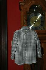 """Chemise""""H&M""""à carreaux gris et blancs Manches longues T104 ou 3/4ans comme 9"""