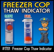 Freezer Cop Thaw Indicator for Boat, RV, Home, Cottage  (sold as a pair)(2)