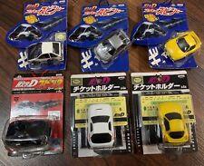 Initial D Char Q Cars Set Of 6 RX-7 FC FD AE86 Impreza GT-R