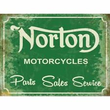 "Original Metal Sign Co Wall Sign Norton Motorcycles Parts Vintage Style 8"" x 6"""