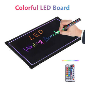 Sensory LED Light Up Writing Drawing Board Erasable LED Board 40*60cm UK Plug