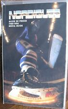 "1985-86 ""Quebec Nordiques Hockey Media Guide"", in French & Englsh, 190 Pages"