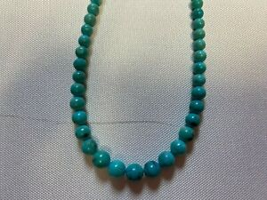 """EUC Jay King Blue Turquoise Small Beaded Necklace 9"""""""