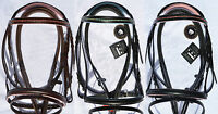 SPECIAL HIGH QUALITY LEATHER BRIDLE WITH DIAMANTE MATCHING PADDING & GRIP REINS