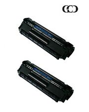 2X Quality BLACK Toners for HP 12A, Q2612A, 12X, Q2612X, LaserJet 1010/1012/1015