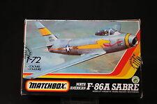 YN113 MATCHBOX 1/72 maquette avion 40032 North American F-86A Sabre