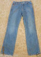 Levi's Damen Jeanshose Denim Gerades Bein Stonewashed blau W26/L32 100%Baumwolle