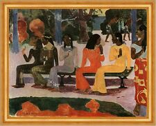 Ta Matete - Der Markt Paul Gauguin ägyptisch Frauen Parkbank Bütten H A3 0399
