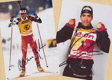 Ole Einar Björndalen-Martin Fourcade (6) 2 Super-AK pictures + Ski AK FREE