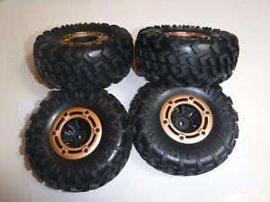 Redcat Racing Rockslide RS10 XT Tires / Beadlock Tires W/Rims Crawler(4)