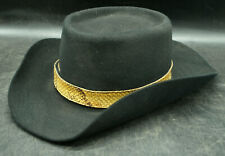 STETSON 7 1/8 3X BEAVER RATTLESNAKE BAND COWBOY HAT (C2)
