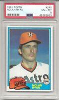 1981 TOPPS #240 NOLAN RYAN, PSA 8 NM-MT, TOUGH CARD, HOF,  HOUSTON ASTROS, L@@K