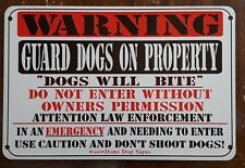 "Metal Warning Guard Dogs Sign For Fence ,Beware Of Dog 8""x12"""