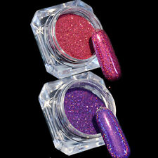 2 Boxen Holographic Nail Glitzer Pulver Nail Art Nagel Puder Holo Laser Glitter