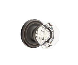 Oil Rubbed Bronze & Crystal Dummy  Door Knob Set