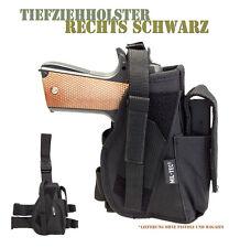 Mil-Tec®|Tiefziehholster Rechts Schwarz Beinholster Pistolenholster Holster Klet
