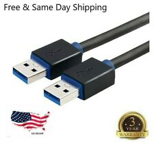 6FT USB 3.0 Cable Type A Male to A Male High Speed Data Transfer Charger Cord