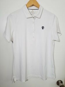 1 NWT PETER MILLAR WOMEN'S POLO, SIZE: LARGE, COLOR: WHITE (J114)