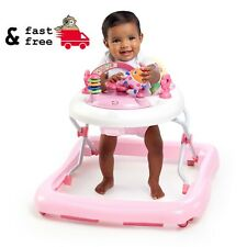 Electronic Baby Walker With Activity Station Pink Bright Start for 6 to 12 mos