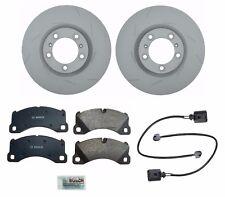 Porsche Panamera Front Left and Right Steel Brake Disc Rotors Pads Sensors KIT