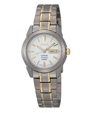 Seiko Ladies Two Tone Titanium Watch  SXA115P1-NEW