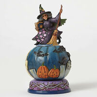 Jim Shore 'Mischief Is A-Brewing' Witch W/Movable Scene #4051547 NIB Halloween