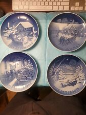 Jule Aften - Christmas Plates - Porcelain - Made By B&G In Denmark - 10 Plates