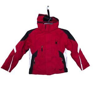 Spyder - Kid's Size 8 Red Ski Snowboard Hooded Shell Jacket