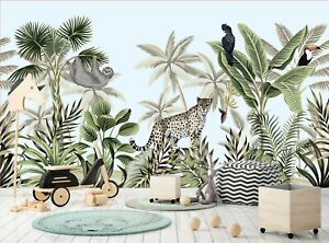 Jungle Animals Photo Wallpaper Wall Mural WALL DECOR Giant Paper Poster Picture