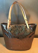 MICHAEL KORS JET SET SIGNATURE MIRROR METALLIC TOTE BAG PURSE