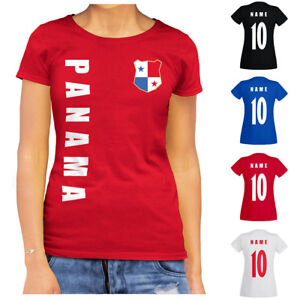 Panama WM 2022 Damen T-Shirt Trikot Name Nummer Fussball Team National