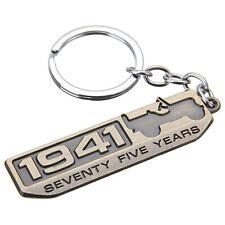 1x Car Metal For Jeep SEVENTY FIVE YEARS 1941 Keychain Key Ring Keyfob Accessory