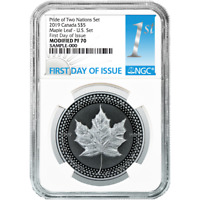 2019 Modified Proof $5 Silver Canadian Maple Leaf NGC PF70 FDI First Label Pride