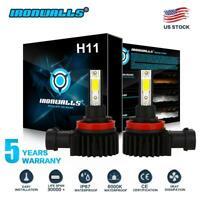 IRONWALLS H8 H9 H11 2200W LED Headlight Bulbs Conversion Kit 6000K High Low Beam