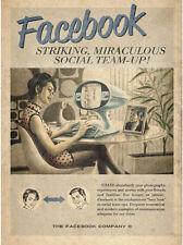 "Vintage Facebook Ad, Photo Print 14 x 11"""