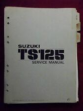 Service Shop Repair Manual SUZUKI 1978 TS125 TS 125 S424