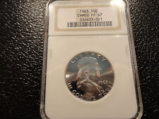 1963  SILVER FRANKLIN HALF DOLLAR 50 CENTS NGC PF PROOF 67 VERY CLEAN -OFFERS
