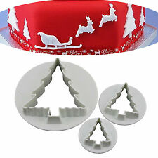 Christmas Tree Fondant Cake Cupcake Decorating Biscuit Cookie Cutter Mold Tools
