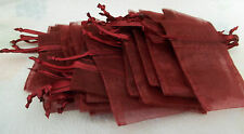 "30 Organza 3""x4"" Maroon Favor Jewelry Sm item Gift Bags with Satin Drawstrings"