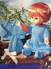 "Dolls clothes knitting pattern  for 14"" & 18"" doll. (V Doll 34)"
