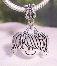 Little Girl Daughter Grandaughter Dangle Bead for Silver European Charm Bracelet