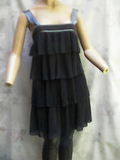 FRENCH CONNECTION BLACK ORIGINAL PLEATED & LAYERED DESIGN DRESS SZ 4