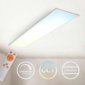 LED Panel Deckenleuchte CCT ultraflach dimmbar Wohnzimmer Schlafzimmer Slim weiß