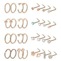 20G Nose Ring Hoop 2pc-48pcs Ear Cartilage Stud Stainless Steel Piercing Jewelry