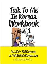 Talk To Me In Korean Workbook Level 1 톡투미인코리안 워크북 1 Free Ship 9788956056883